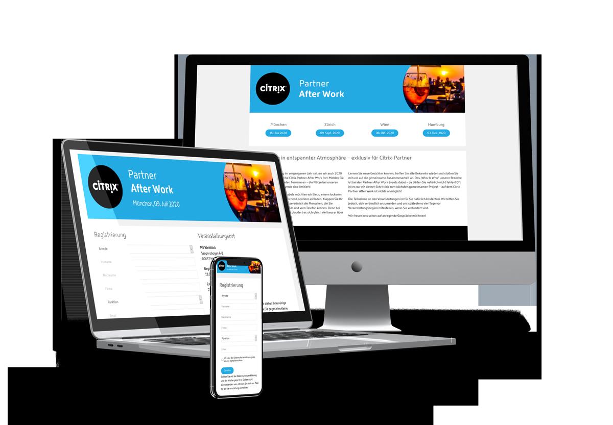 Teilnehmermanagement Citrix responsive design