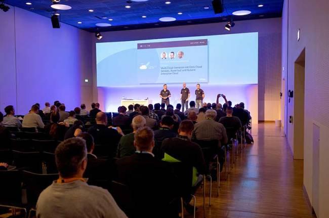 Ein gut gefüllter Vortragsraum mit interessierten Zuhörern der Citrix Technology Exchange.