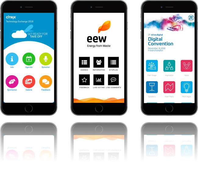 Event Apps zur Besucher- und Mitarbeiter-Information