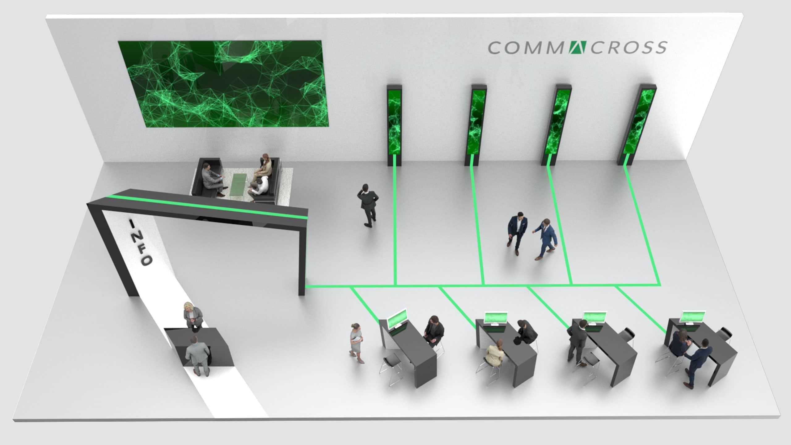Virtueller Messestand von commacross für Ihr Projekt.