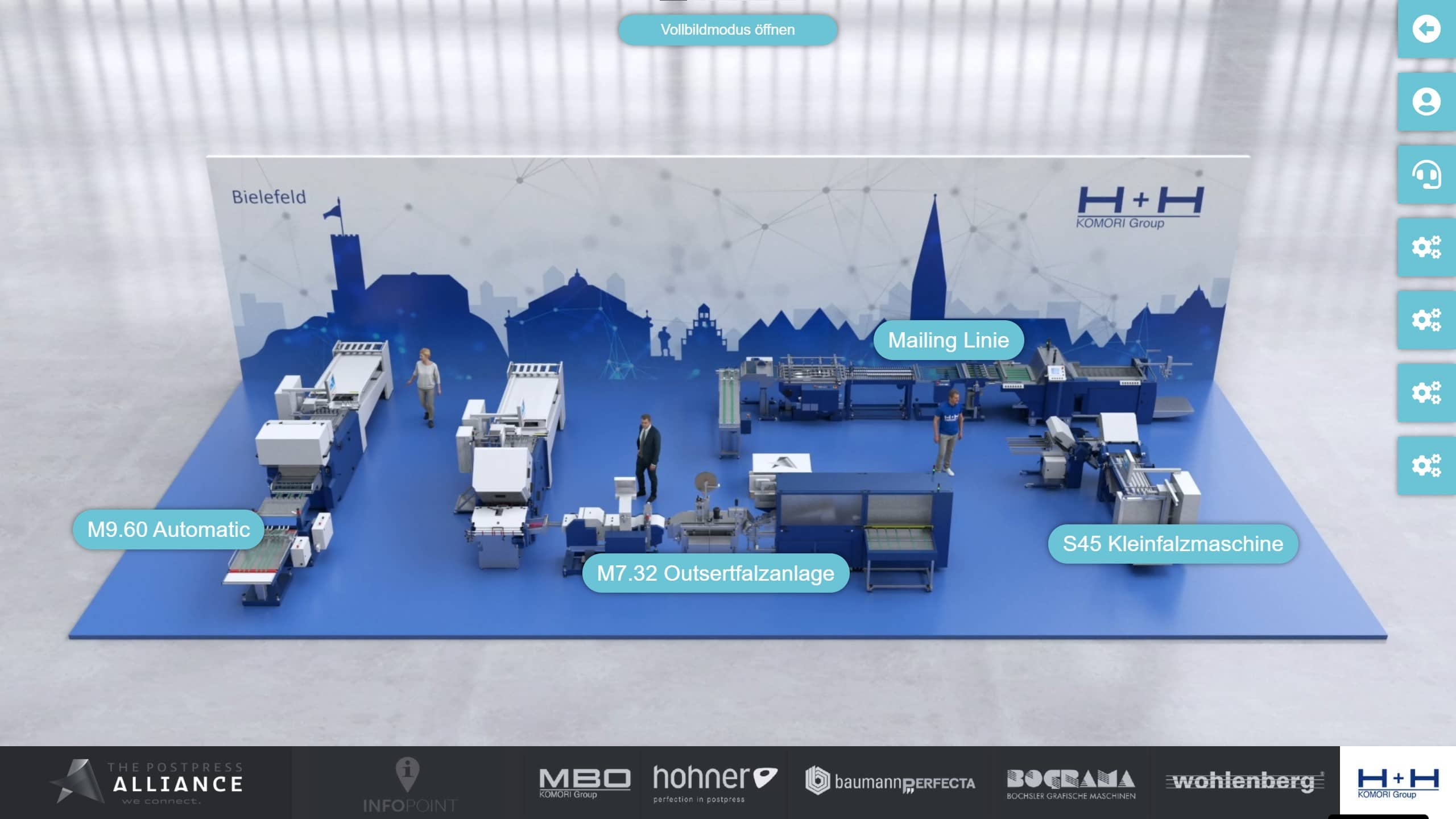 Virtueller Messestand von H+H Komori