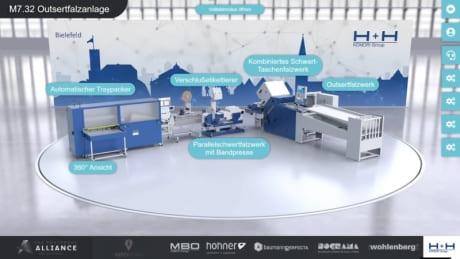 Virtueller Messestand von H+H Komori