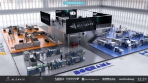 Virtueller Messestand von Postpress Alliance, entwickelt von commacross.