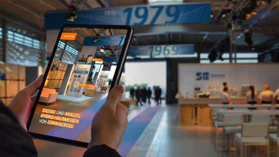 Digitale Hausmesse mit intuitiver Bedienung von commacross.