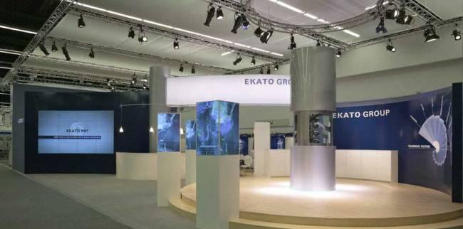 Messe-Konzept für EKATO, moderne und ansprechende Produktpräsentation