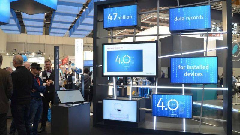 Digitale Medieninstallation für Endress+Hauser auf der Hannover Messe Industrie