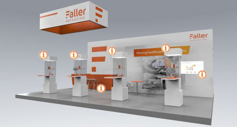 Digitaler, interaktiver Messestand von commacross