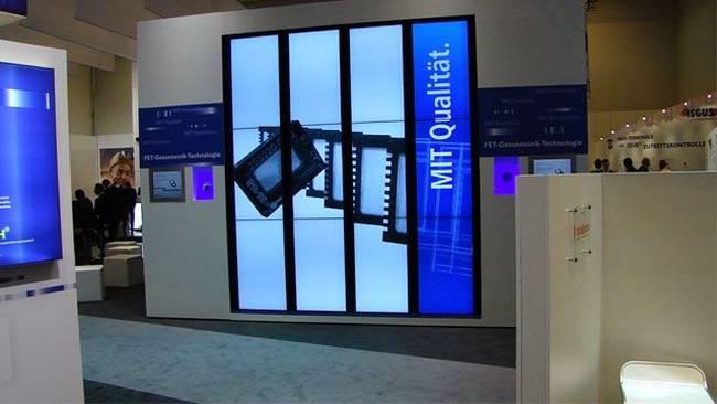 Medien-Agentur: Hekatron Messestand mit digitalen Anwendungen.