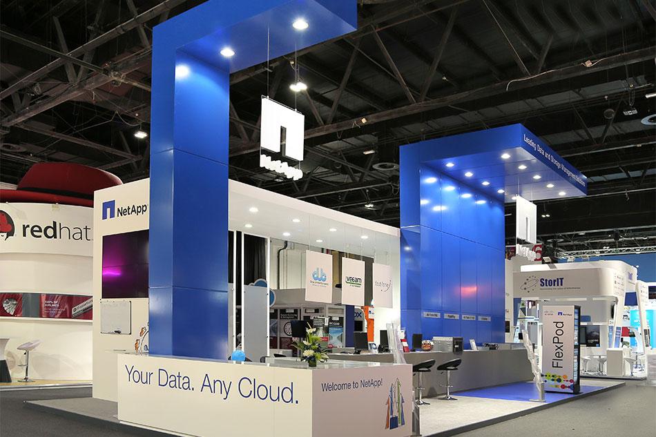 Messestand von Netapp auf der Gitex-Messe in Dubai.