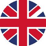 Flagge Vereinigtes Königreich, englische Sprache