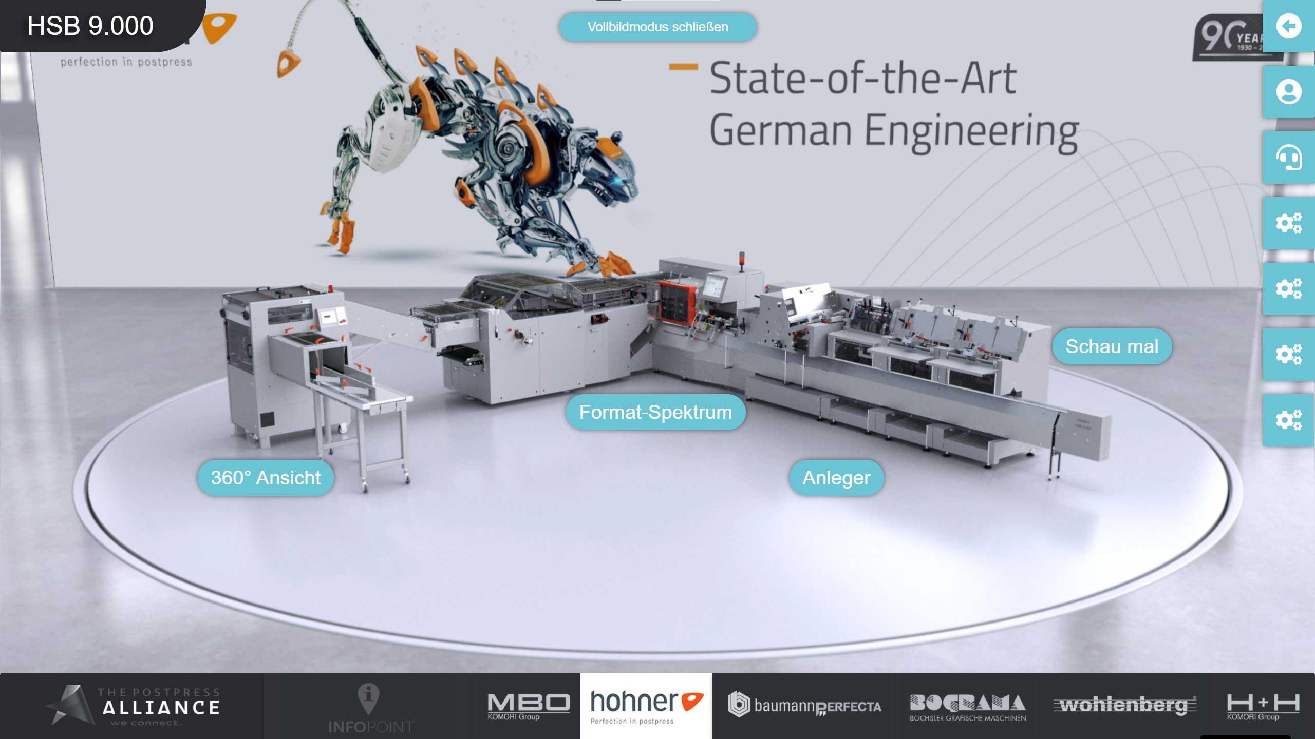 Virtueller Messestand von Hohner, entwickelt von commacross.