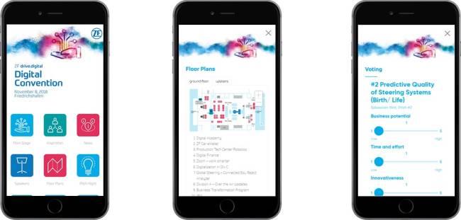 Digitale Event-App mit Informationen und Live-Voting